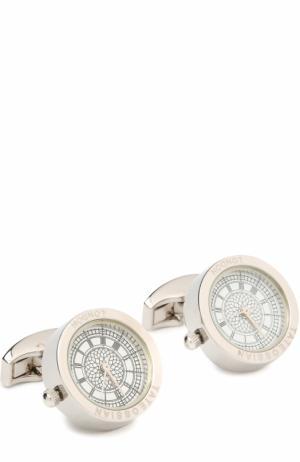 Запонки-часы Tateossian. Цвет: серебряный