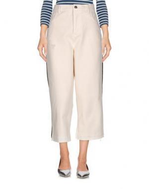 Джинсовые брюки LANEUS. Цвет: слоновая кость