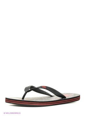 Шлепанцы DC Shoes. Цвет: серый, малиновый