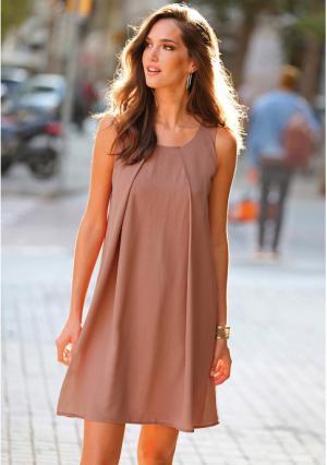 Платье Venca. Цвет: коричневый (бледно-коричневый), фиолетовый (лавандовый)