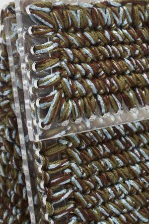 Сумка 7II. Цвет: коричневый, голубой