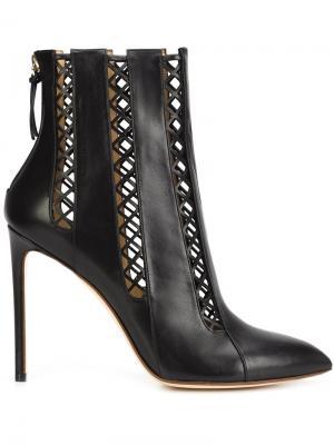 Ботинки на шпильке Francesco Russo. Цвет: чёрный