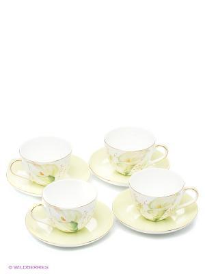 Чайный набор Калла (Calla Charme Pavone) Pavone. Цвет: светло-зеленый