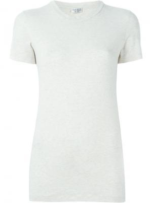 Классическая футболка Brunello Cucinelli. Цвет: телесный