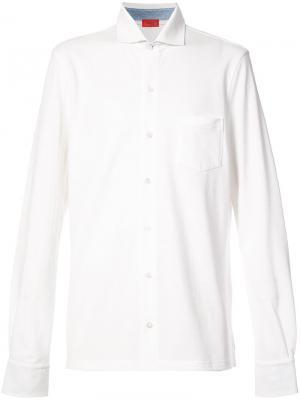 Рубашка с длинными рукавами Isaia. Цвет: белый