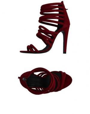 Сандалии CHARLINE DE LUCA. Цвет: красно-коричневый