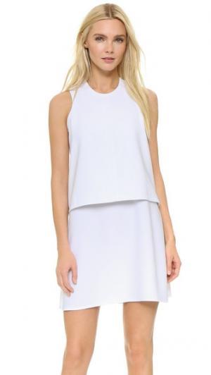 Платье без рукавов Carven. Цвет: оптический белый