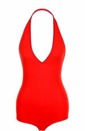 Боди с открытой спиной и V-образным вырезом Givenchy. Цвет: красный