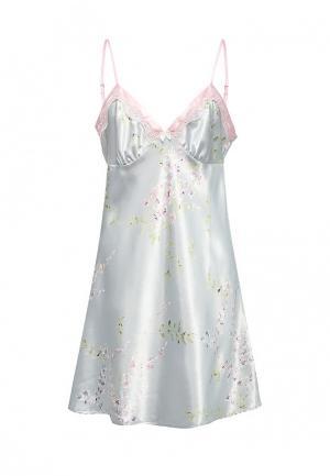 Сорочка ночная Mia-Mia. Цвет: голубой
