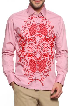 Рубашка Christian Lacroix. Цвет: грязно-розовый, красный принт