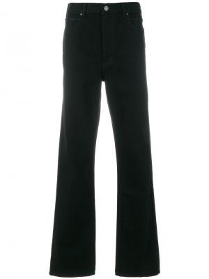 Расклешенные джинсы Calvin Klein 205W39nyc. Цвет: чёрный