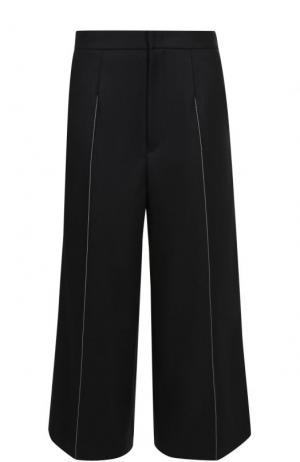 Укороченные расклешенные брюки Yohji Yamamoto. Цвет: черный