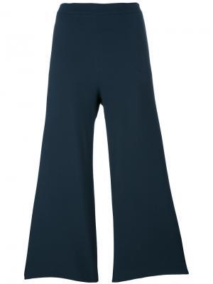 Расклешенные брюки Fabiana Filippi. Цвет: синий