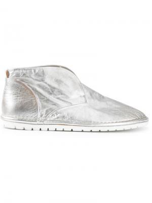 Ботинки-дезерты без шнуровки Marsèll. Цвет: металлический