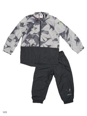 Спортивный костюм дет. YB M WV TS CH  DKGREY/CLONIX Adidas. Цвет: серый