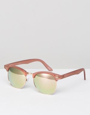 ASOS Солнцезащитные очки в розовой оправе с зеркальными стеклами цвета розо. Цвет: розовый