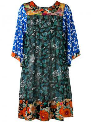 Платье шифт с комбинированным принтом Duro Olowu. Цвет: многоцветный