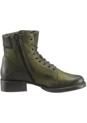 Высокие ботинки Arizona. Цвет: зеленый