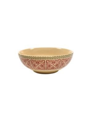 Салатница Фергана Elff Ceramics. Цвет: бежевый, красный