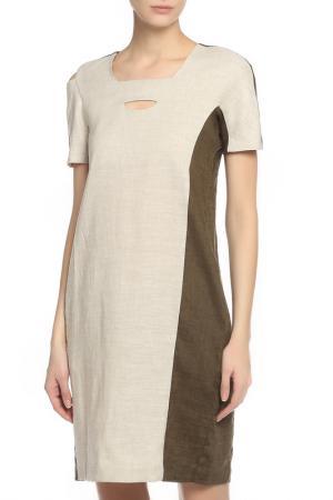 Платье Oblique. Цвет: хаки