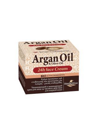 Арганойл крем для лица уход 24ч жирной и комбинированной кожи, 50мл Madis S.A.. Цвет: светло-коричневый