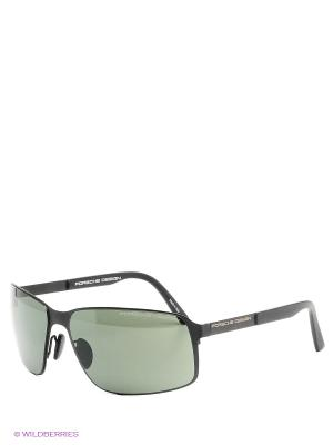Солнцезащитные очки Porsche Design. Цвет: черный, темно-зеленый