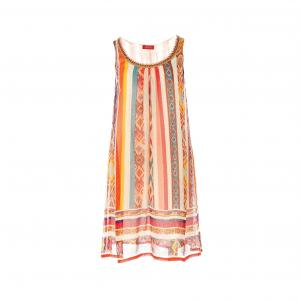 Платье без рукавов с рисунком RENE DERHY. Цвет: наб. рисунок/ розовый