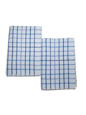 Комплект полотенец 2пр 50х70 La Pastel. Цвет: белый, голубой