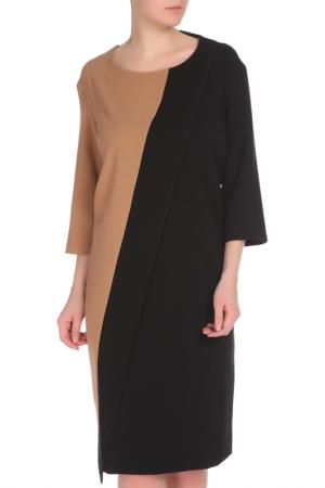 Платье Krizia. Цвет: черный, бежевый