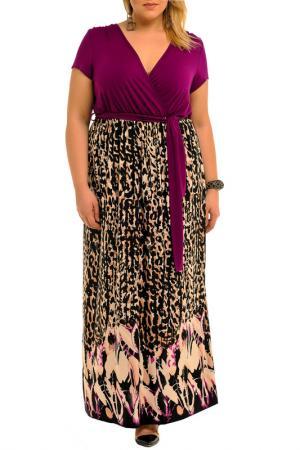 Платье Svesta. Цвет: фиолетовый, принт цветной