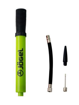 Насос двойного действия JA-104 (25см), гибкий шланг, игла, насадка для фитбола Jogel. Цвет: салатовый
