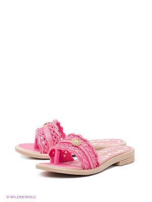 Шлепанцы Grendha. Цвет: розовый, бежевый