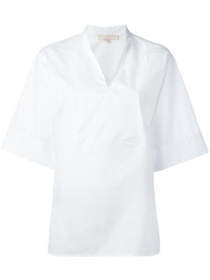 Блузка с узким воротником-стойкой Vanessa Bruno. Цвет: белый