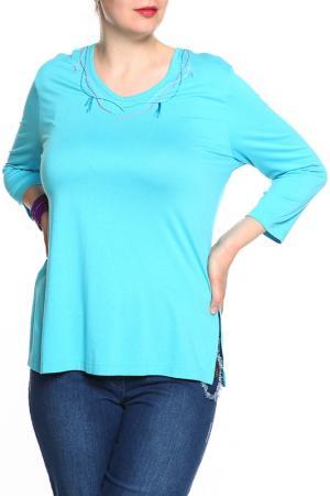 Блуза Ikiler. Цвет: голубой