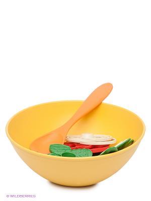 Игровой набор для салата Green Toys. Цвет: желтый, салатовый, светло-оранжевый