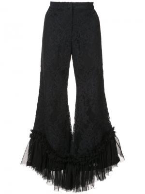 Расклешенные брюки Cedric Alexis. Цвет: чёрный