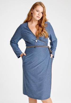 Платье Lessismore. Цвет: голубой