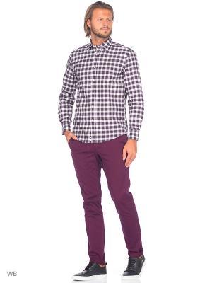 Рубашка United Colors of Benetton. Цвет: коричневый