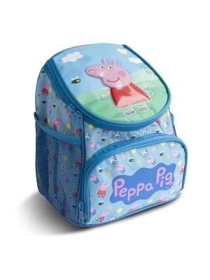 Рюкзачок увеличенный Свинка Пеппа Peppa Pig. Цвет: голубой, розовый