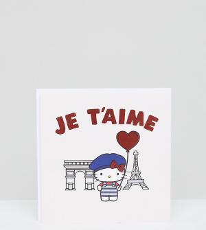 ASOS Открытка с надписью Paris Jolly Awesome x Hello Kitty эксклюзивно для. Цвет: мульти