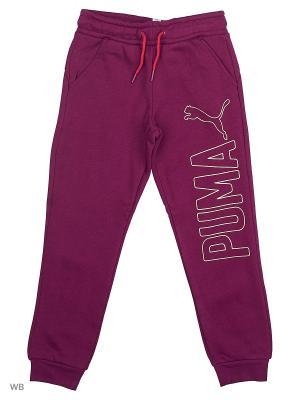 Брюки Style Sweat Pants,closed FL PUMA. Цвет: темно-фиолетовый