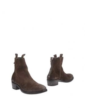 Полусапоги и высокие ботинки MOMA. Цвет: хаки