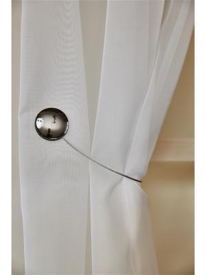 Магнитная клипса с тросом (30 см) оникс матовый/блестящий IZKOMODA. Цвет: антрацитовый