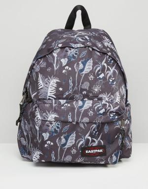 Eastpak Рюкзак с лиственным принтом PakR. Цвет: синий