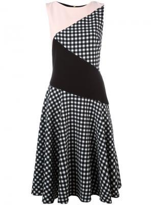 Расклешенное платье со вставкой Marco Bologna. Цвет: белый