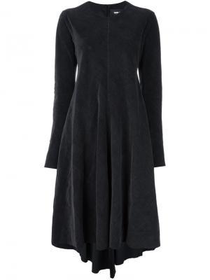 Платье длины миди с драпировками Yang Li. Цвет: серый