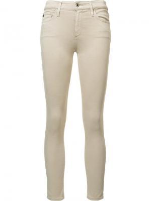 Брюки скинни Farrah Ag Jeans. Цвет: телесный