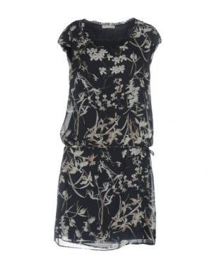 Платье до колена NERO GIARDINI. Цвет: темно-синий