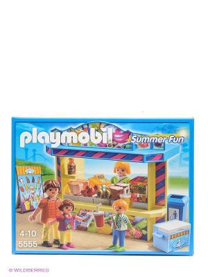 Конструктор Киоск со сладостями Playmobil. Цвет: голубой, желтый