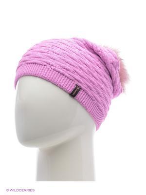 Анабель Беркле шапка женская с помпоном Berkle. Цвет: розовый
